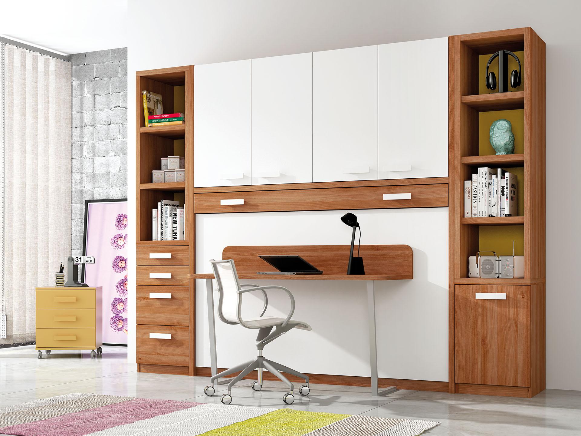 Camas abatibles horizontales con escritorio sof cama - Fabricar cama abatible ...