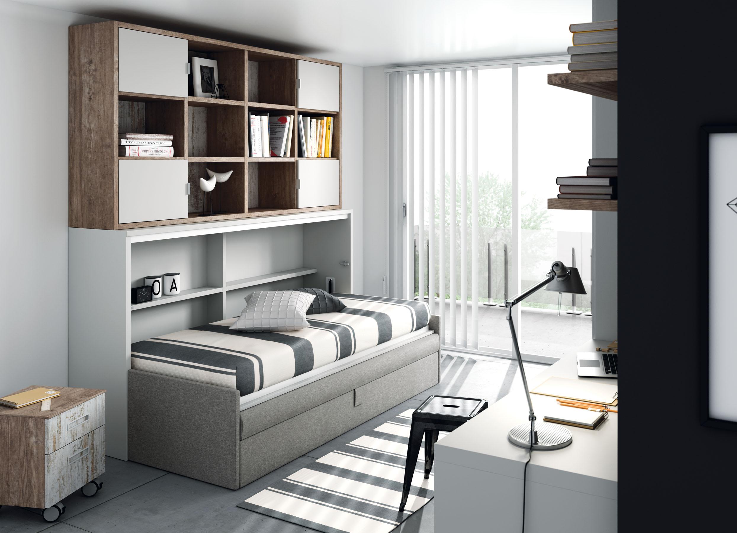 Camas abatibles horizontales con sofa camas abatibles for Camas divan juveniles
