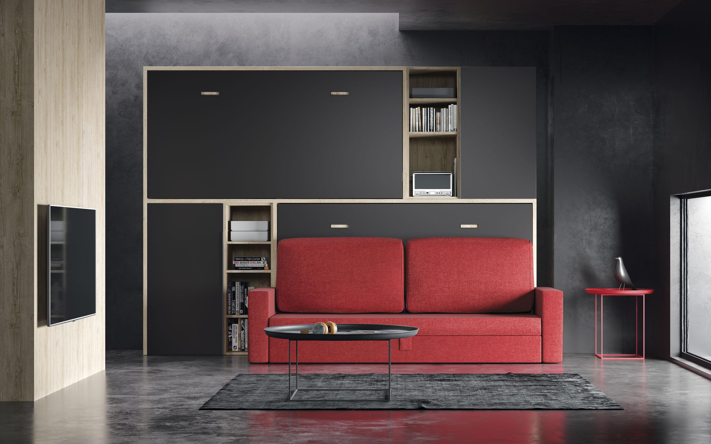 Camas Abatibles horizontales con sofa | Camas Abatibles | Muebles Cela