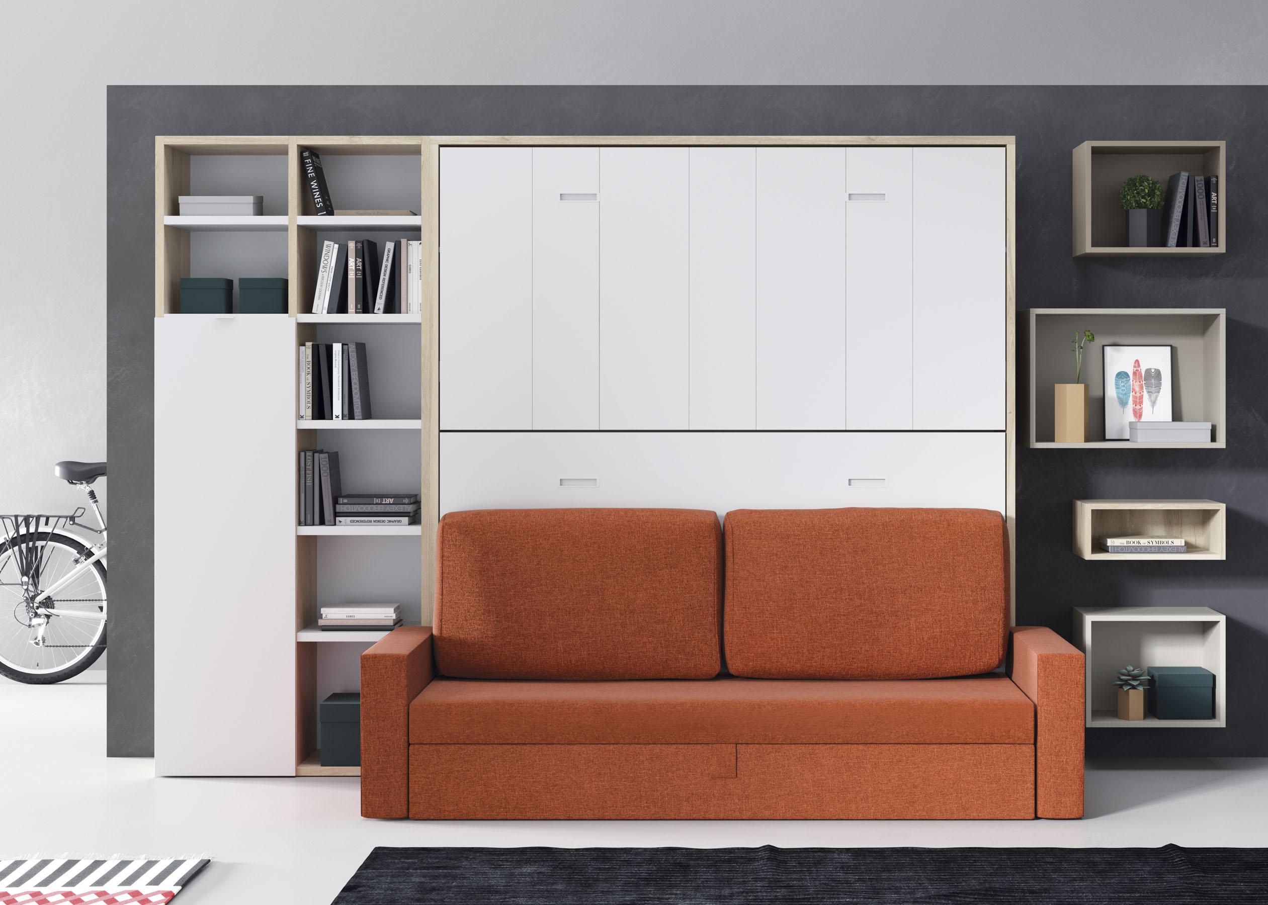 Camas abatibles horizontales con sofa camas abatibles muebles cela - Literas con sofa ...
