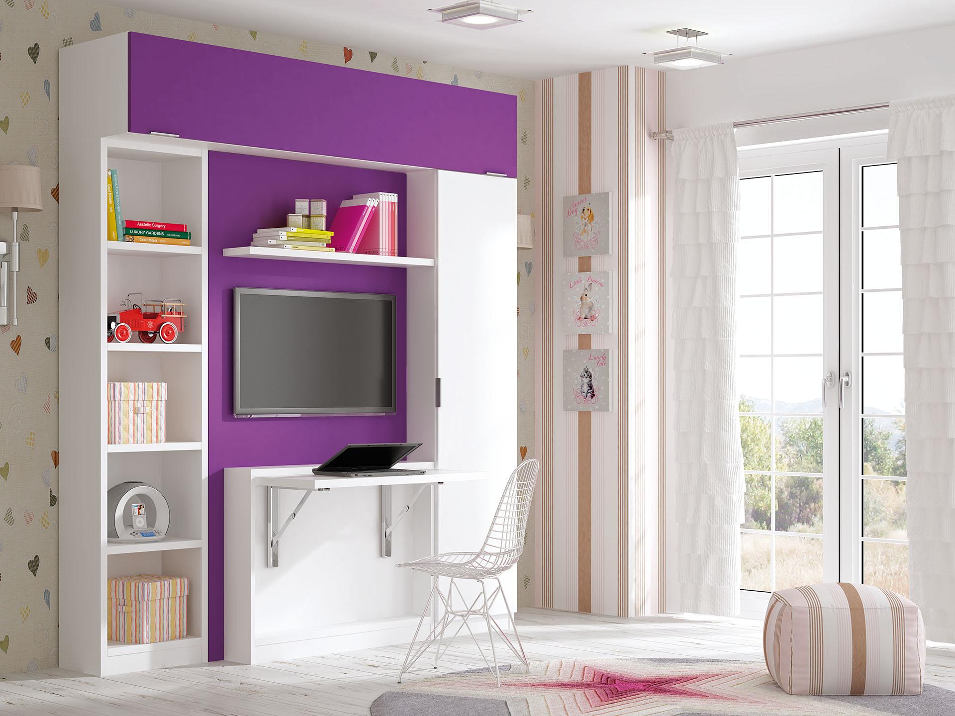 Camas abatibles verticales con escritorio camas - Sistema cama abatible ...