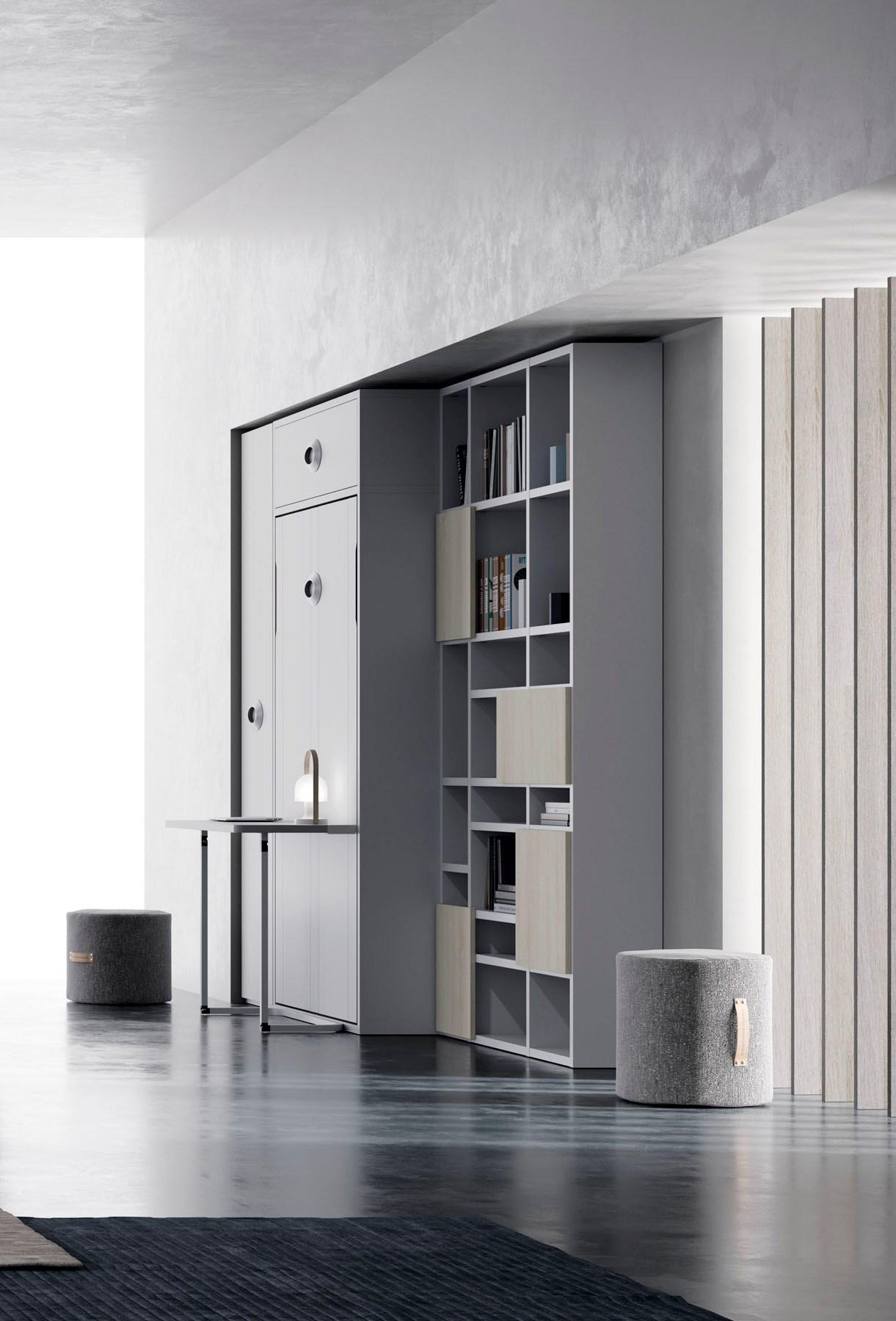 Cama abatible vertical con escritorio habitaciones - Escritorio abatible ...