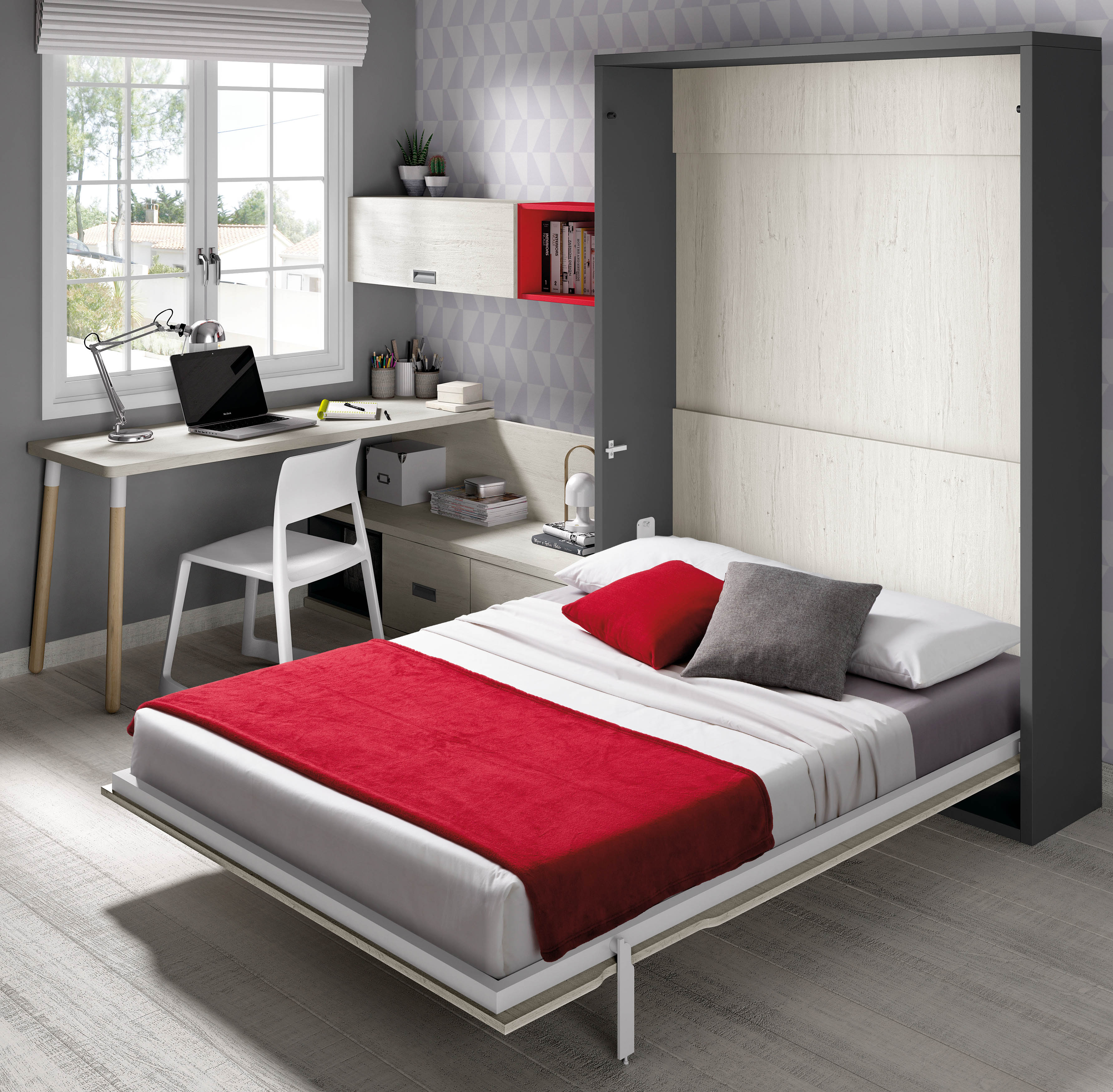 Camas abatibles verticales camas plegables cama for Mueble cama abatible vertical matrimonio