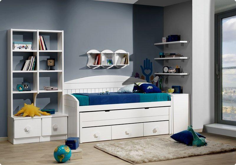 Cama Compacta Lacada Dormitorios Juveniles Cama Nido