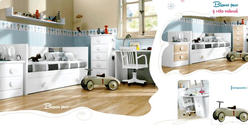 Habitacion infantil cama nido perfect cama compacta - Habitacion infantil cama nido ...