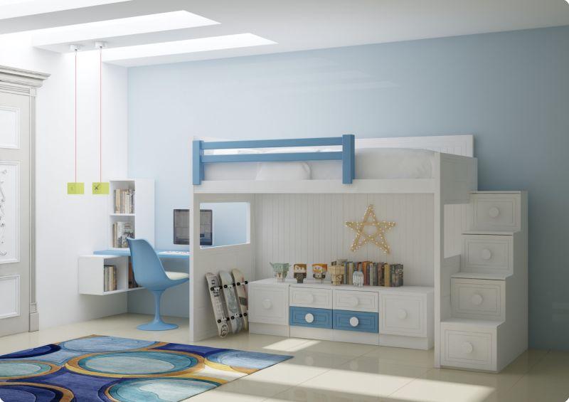 Literas lacadas muebles juveniles habitaciones juveniles - Habitaciones juveniles muebles tuco ...