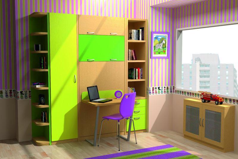Literas abatibles verticales con escritorio literas for Mueble litera abatible vertical