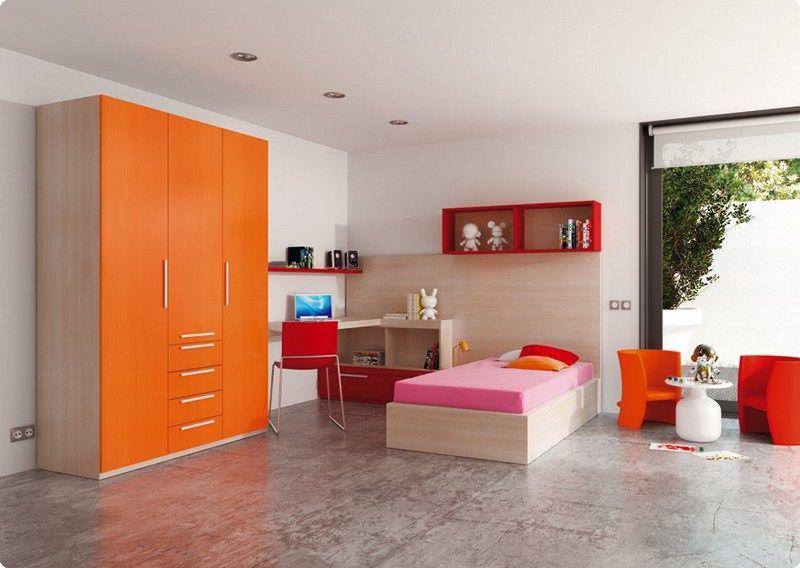 Habitaci n juvenil con armario vestidor cama abatible - Habitacion juvenil cama abatible ...