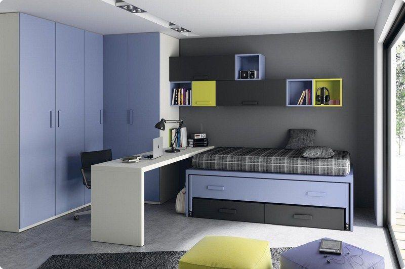 Habitaciones juveniles dormitorio juvenil camas abatible for Sofa cama para habitacion juvenil