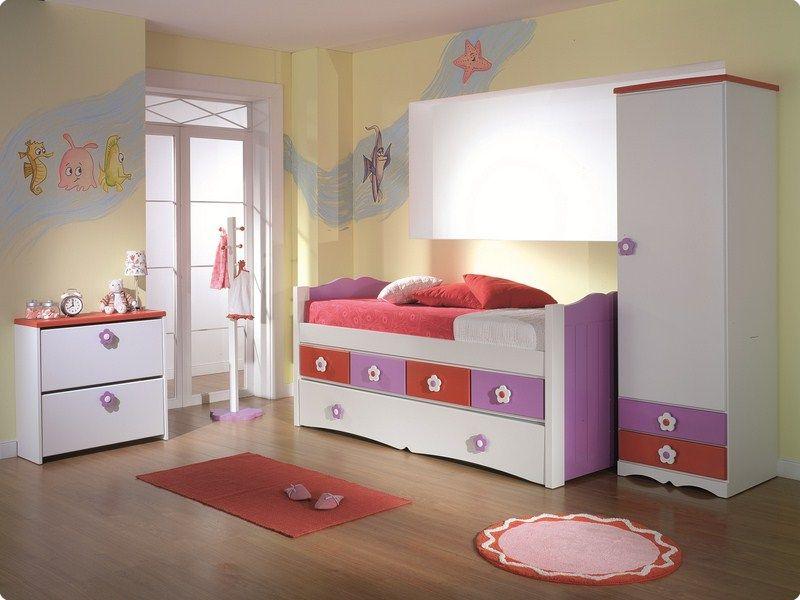 Cama compacta lacada dormitorios juveniles cama nido for Cama infantil compacta