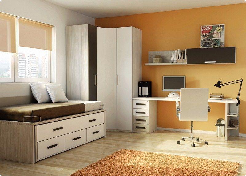 Habitaciones juveniles dormitorio juvenil camas abatible for Muebles de oficina rd