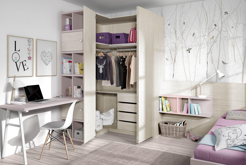Muebles juveniles camas individuales dormitorios juveniles for Muebles de cuartos infantiles