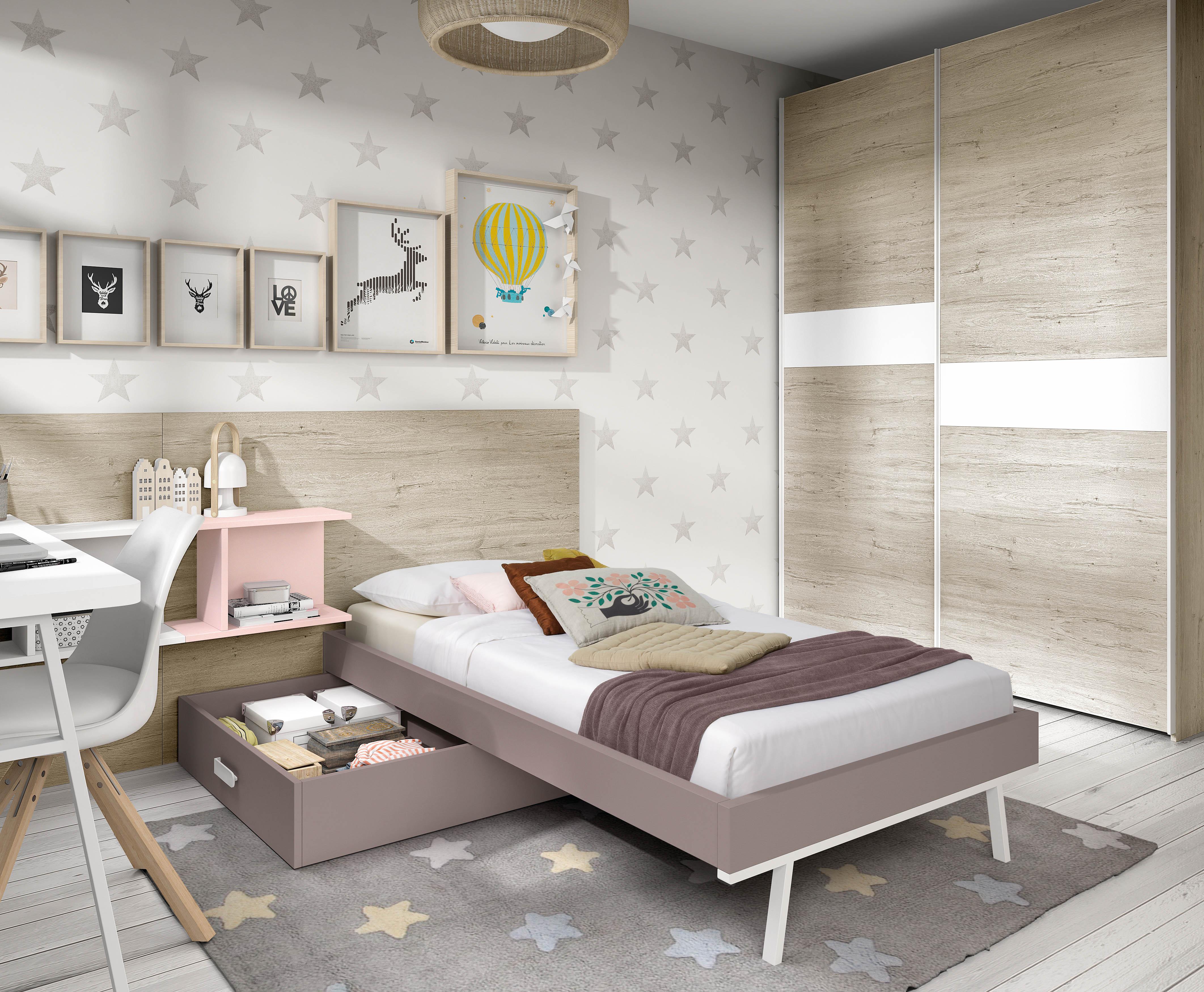 Muebles juveniles camas individuales dormitorios juveniles for Camas individuales juveniles