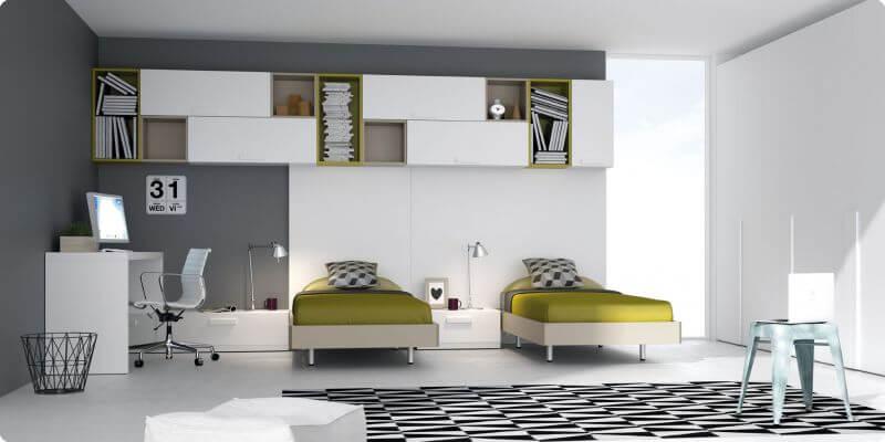 Habitaciones juveniles dormitorio juvenil camas abatible for Dormitorios juveniles dos camas individuales