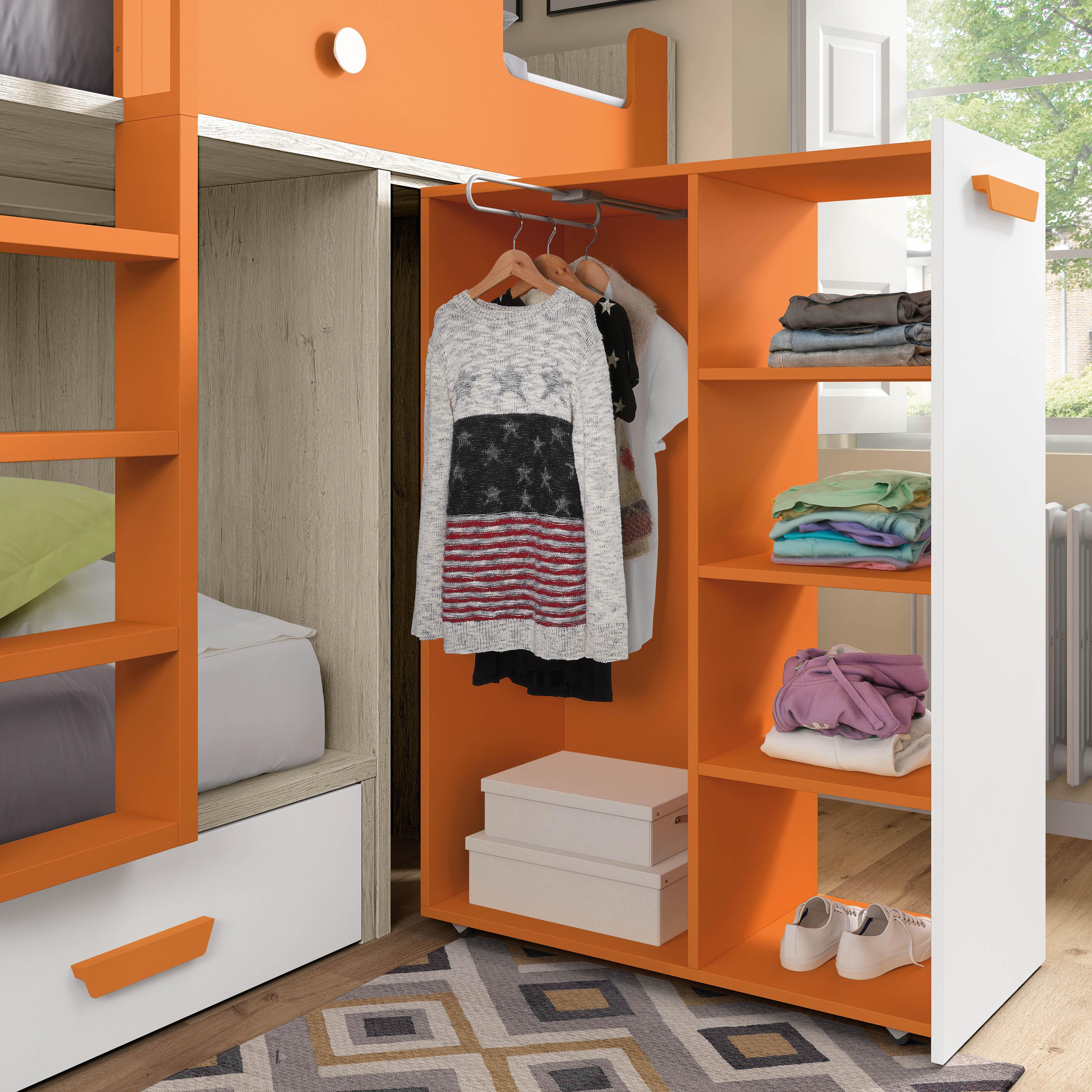 Muebles juveniles cama tren dormitorios juveniles cama - Armario con cama ...