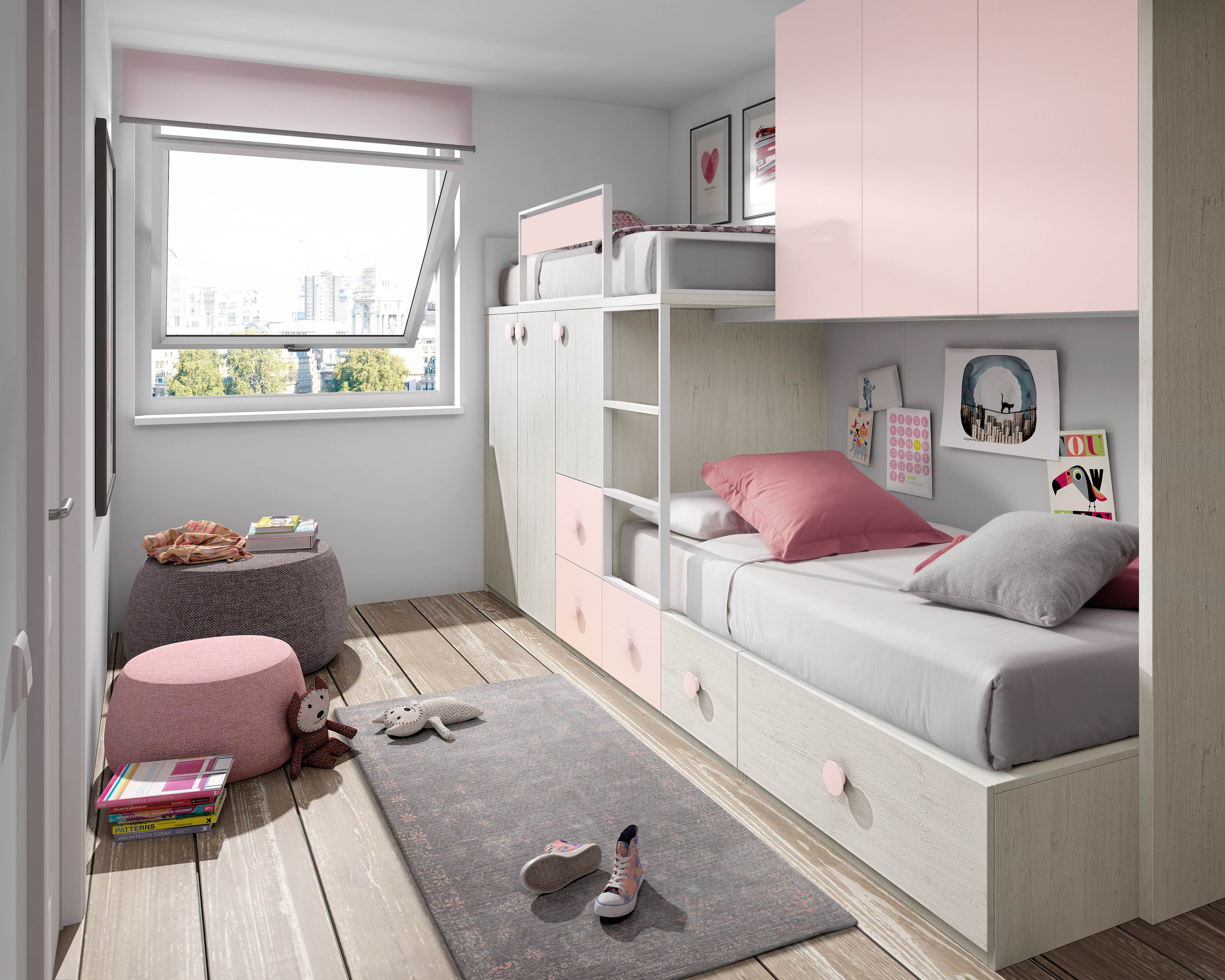 Muebles juveniles cama tren dormitorios juveniles cama - Cama tren juvenil ...