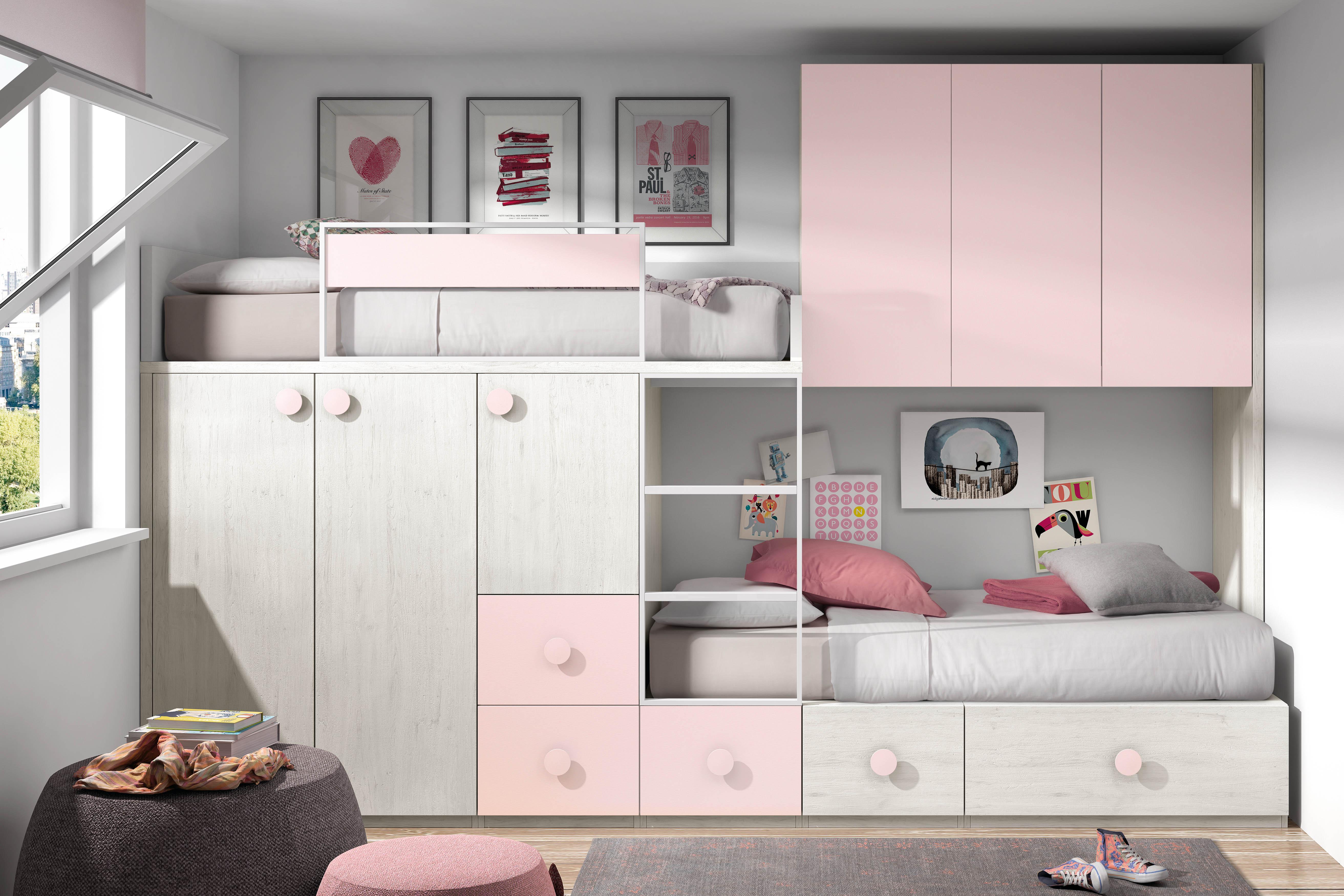 Muebles juveniles cama tren dormitorios juveniles cama - Camas con cama debajo ...