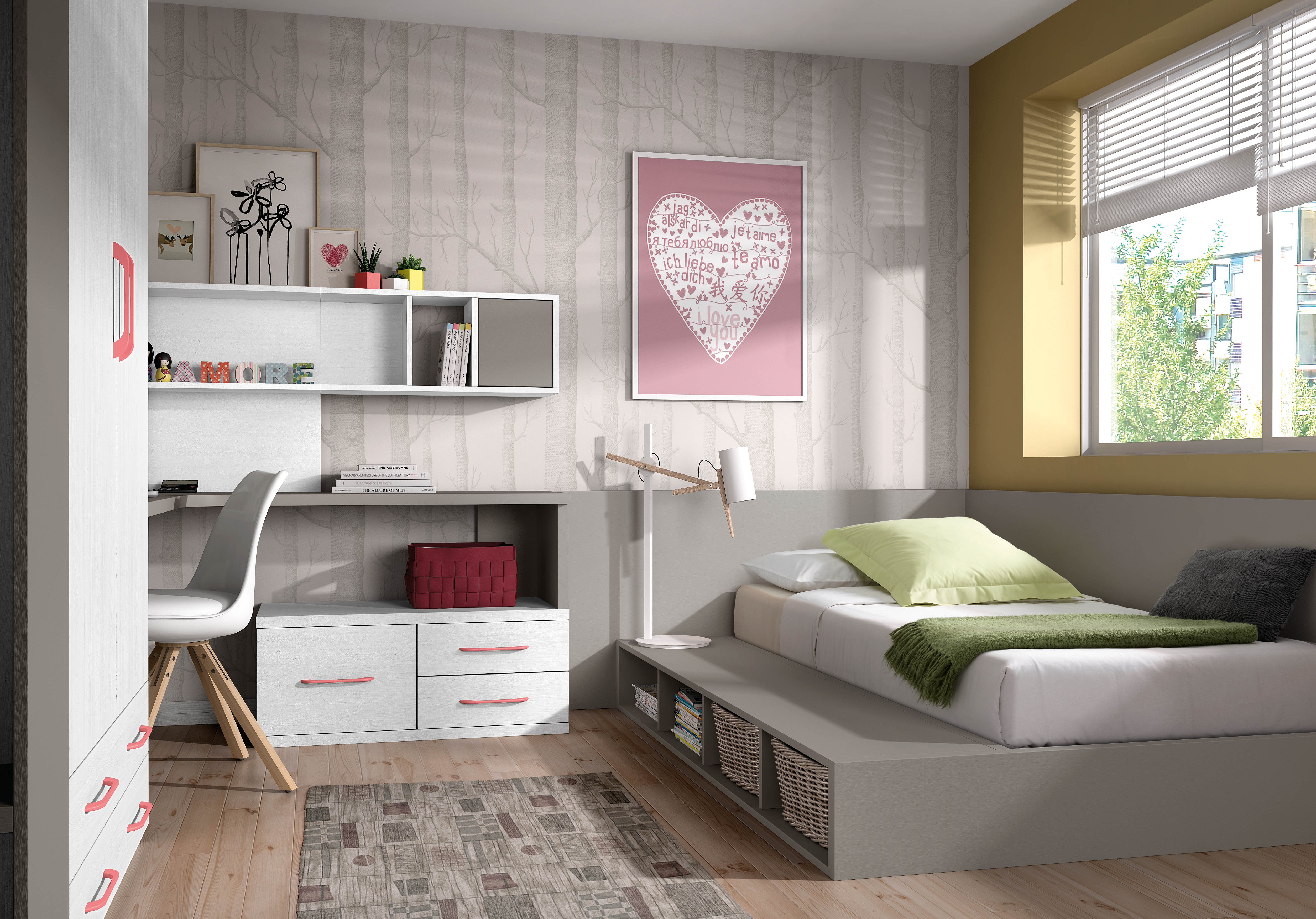 Muebles juveniles tatami dormitorios juveniles muebles for Programa para decorar habitaciones