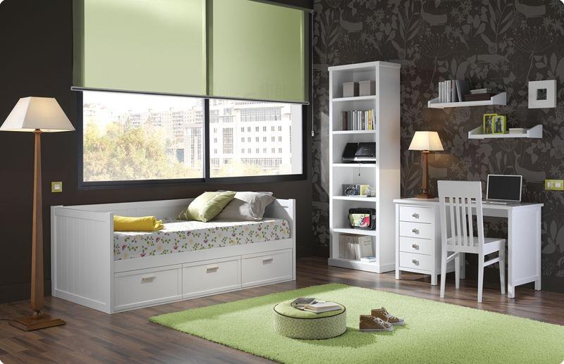 Cama nido pino macizo cama nido dormitorios juveniles for Dormitorio juvenil cama 105