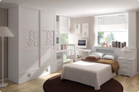 Cama individual pino macizo habitaciones juveniles - El mueble habitaciones juveniles ...