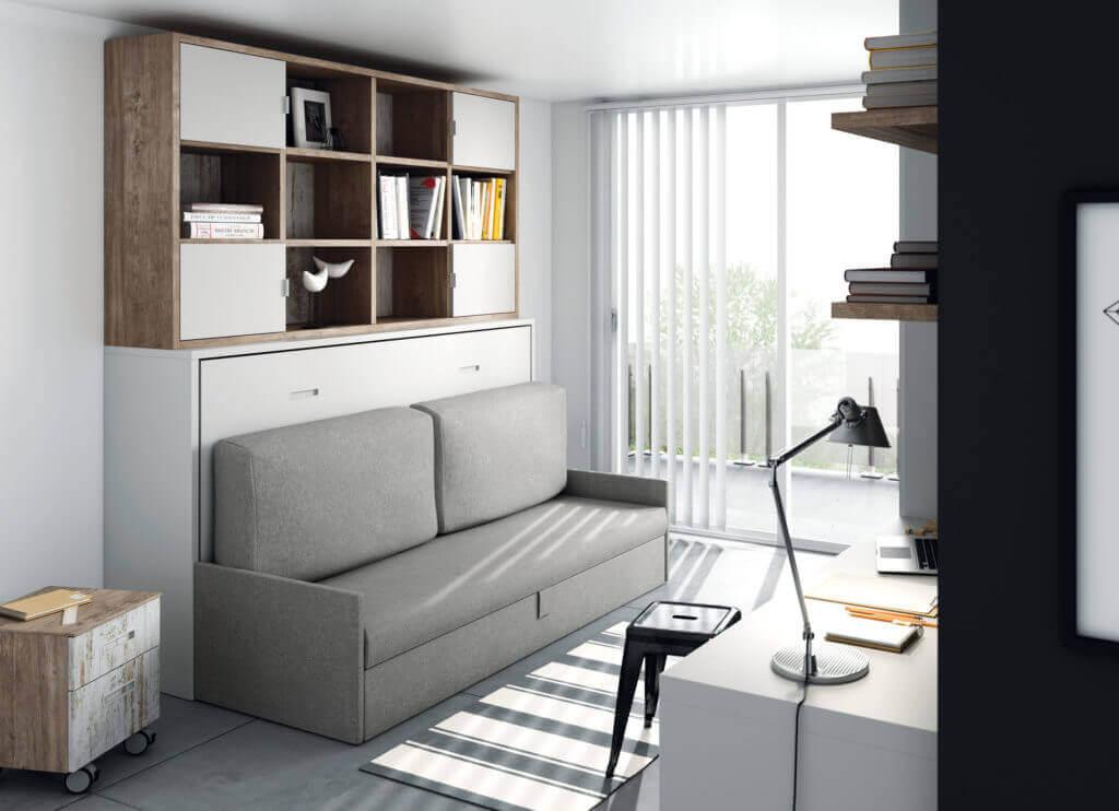 Camas abatibles horizontales con sofa camas abatibles for Muebles con sofa cama
