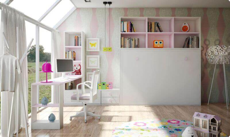 Camas abatibles horizontales lacada camas abatibles - Habitaciones juveniles camas abatibles horizontales ...