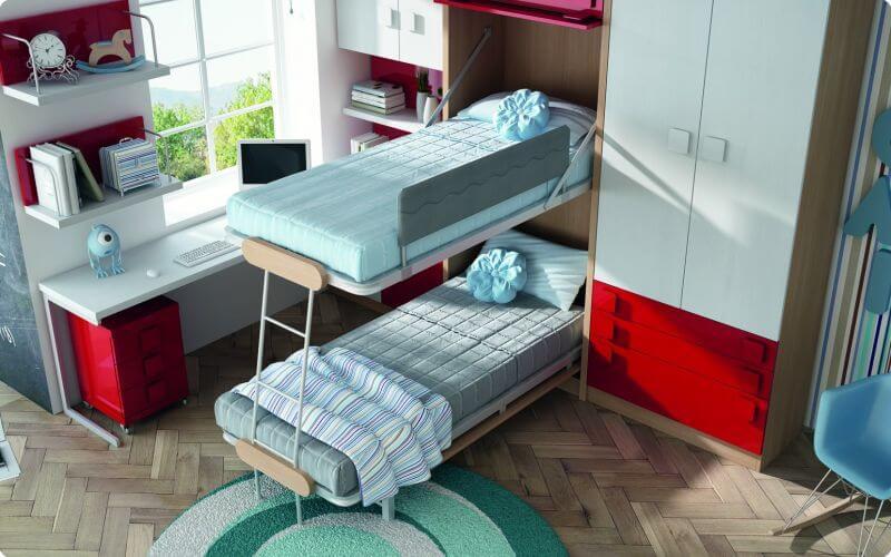 Literas abatibles verticales muebles juveniles literas - Muebles literas abatibles ...