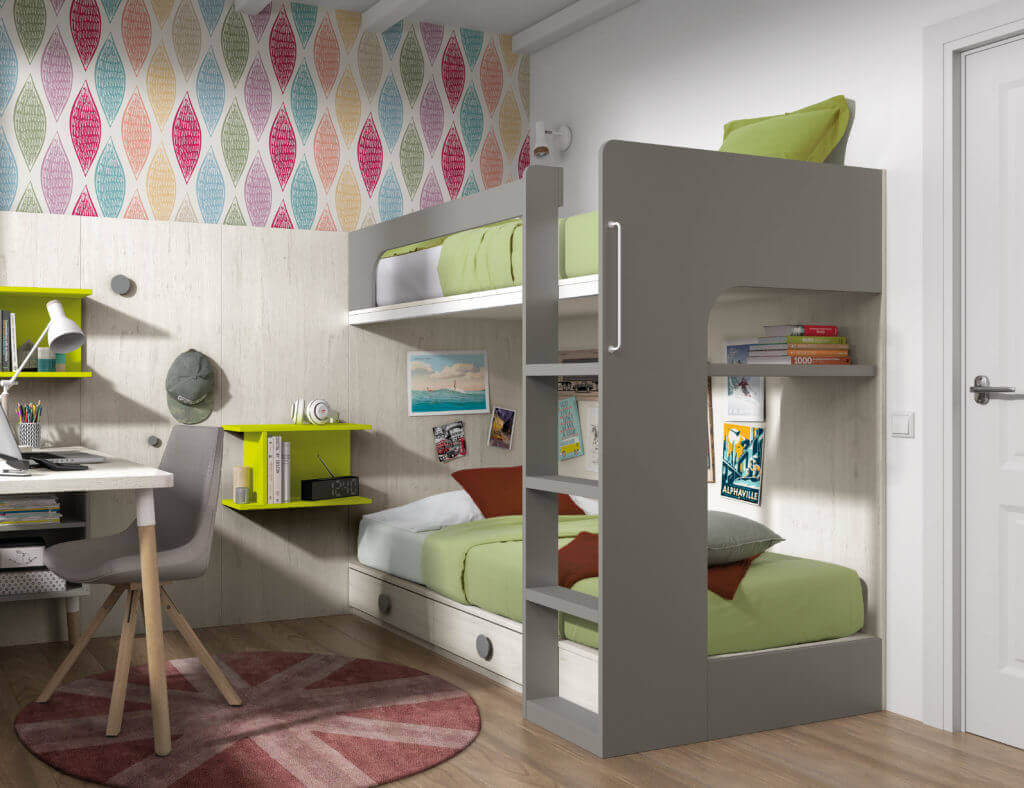 Muebles juveniles literas literas juveniles for Sofas para habitaciones juveniles