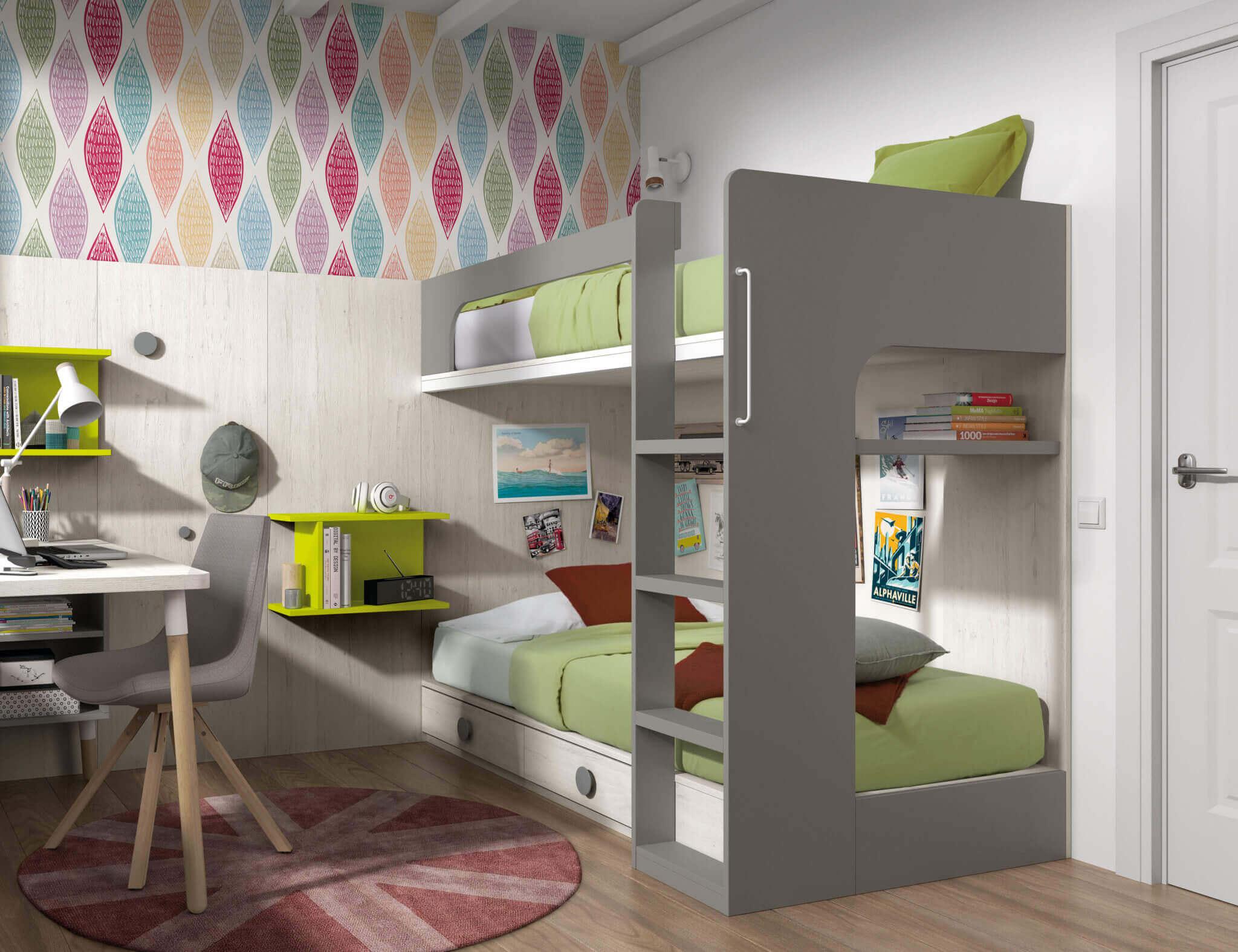 Muebles juveniles literas literas juveniles dormitorios juveniles - Muebles shena literas ...