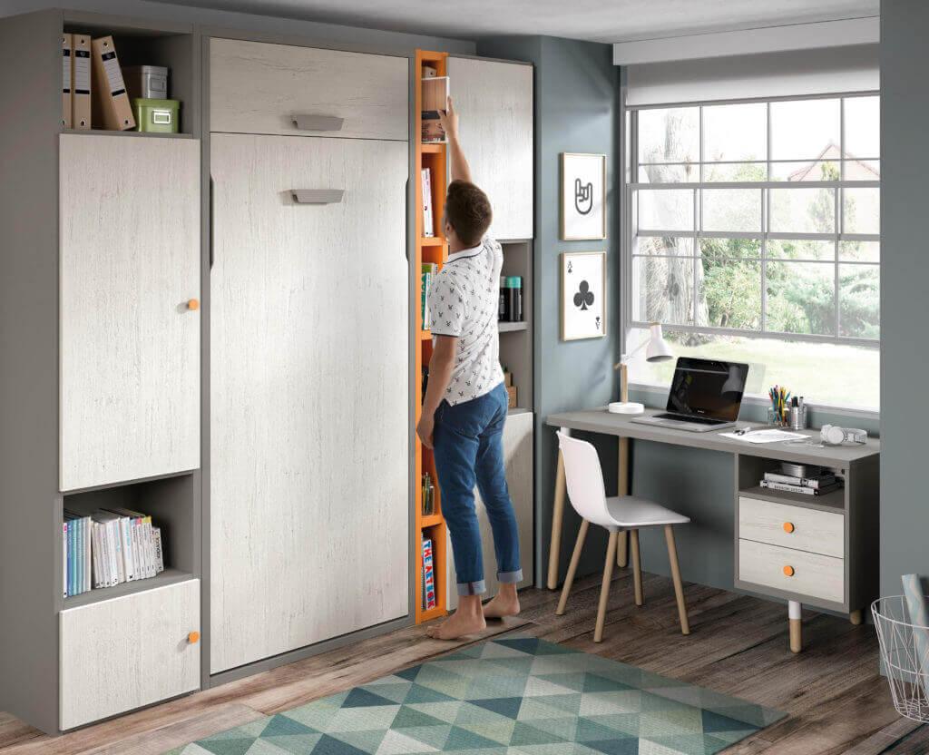 Camas abatibles verticales camas plegables cama - Habitaciones juveniles muebles tuco ...