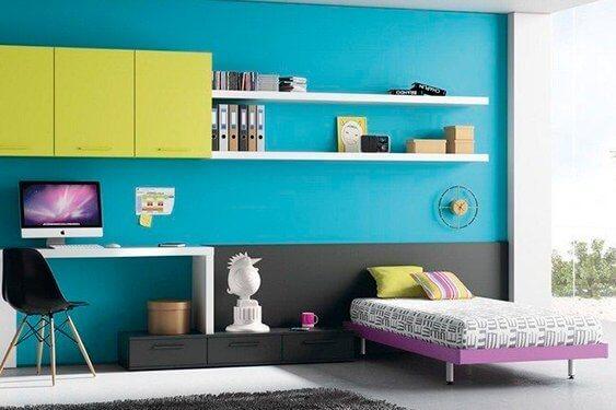Habitaciones juveniles dormitorio juvenil camas abatible for Camas juveniles con escritorio incorporado