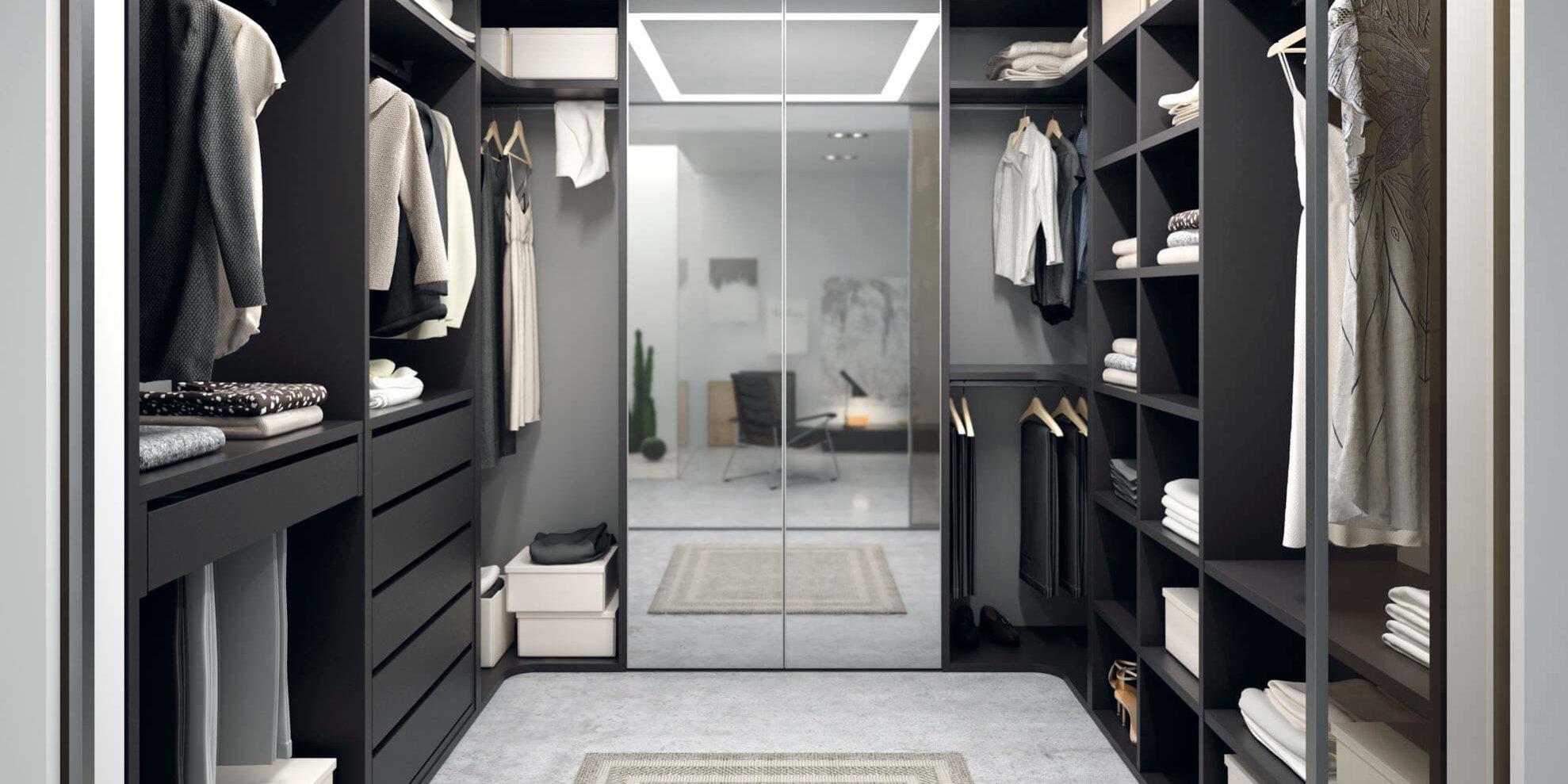 Habitaci n juvenil con armario vestidor cama abatible for Armarios de habitacion